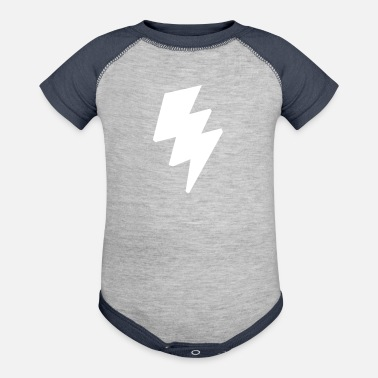 Jagged Jagged lightning - Baseball Baby Bodysuit