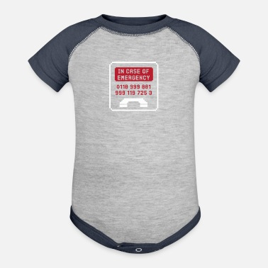 Emergency In Case Of Emergency - Contrast Baby Bodysuit