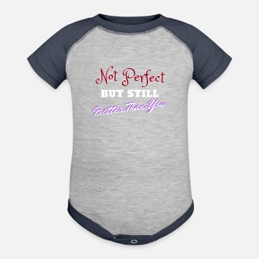 Not Perfect Not Perfect - Baseball Baby Bodysuit