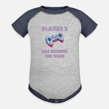 Player Player 3 has entered the game - Baby - Baseball Baby Bodysuit