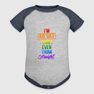Think Straight Gay Pride - Baby Contrast One Piece