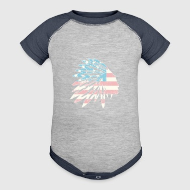 Native American Indian Flag - Baby Contrast One Piece