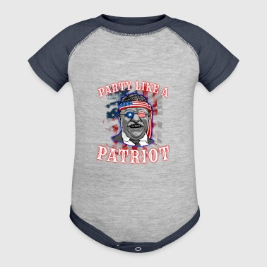 Theodore Roosevelt 4th Of July - Baby Contrast One Piece