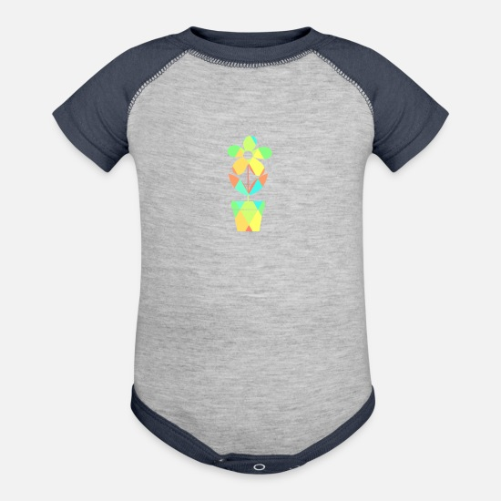Flowers Baby Clothing - flower - Baseball Baby Bodysuit heather gray/navy