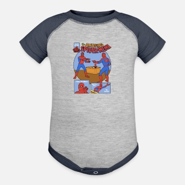 Amusing The Amusing Spidermeme - Baseball Baby Bodysuit