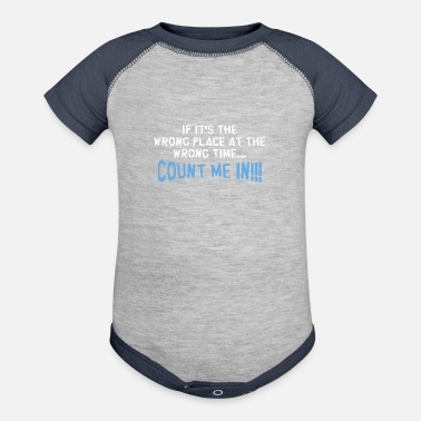 Places Of Interest WRONG PLACE - Contrast Baby Bodysuit