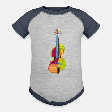 Abstract A colorful violin - Baseball Baby Bodysuit