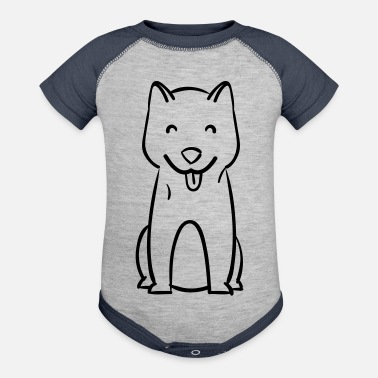 Dog Breed Dog - Dog breed - Contrast Baby Bodysuit