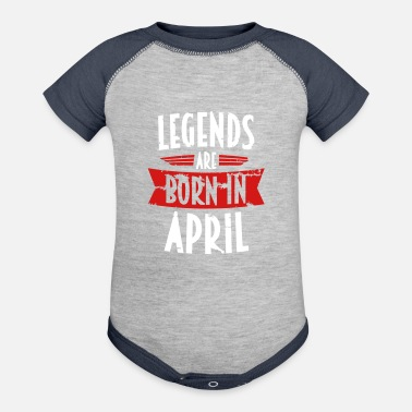 April LEGENDS ARE BORN IN APRIL (gift) - Contrast Baby Bodysuit