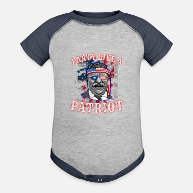 Theodore Theodore Roosevelt 4th Of July - Contrast Baby Bodysuit