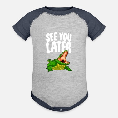 Florida See You Later Alligator - Baseball Baby Bodysuit