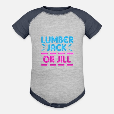 Lumberjack Party Gender Reveal Lumberjack Or Jill - Baseball Baby Bodysuit