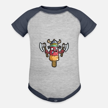 Ice Axe Cactus Ice Cream Popsicle Warrior With Axe - Baseball Baby Bodysuit