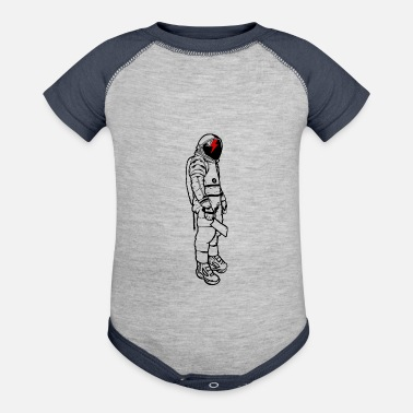 Spacesuit Astronaut Lightning Knife Spacesuit - Baseball Baby Bodysuit