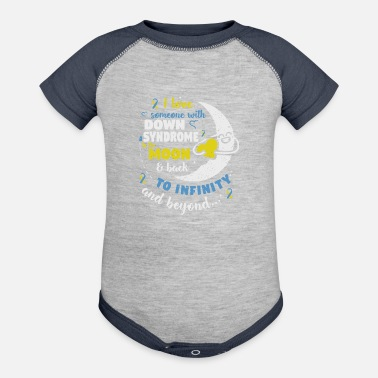 Down Down Syndrome Awareness design for Men, Women, - Baseball Baby Bodysuit