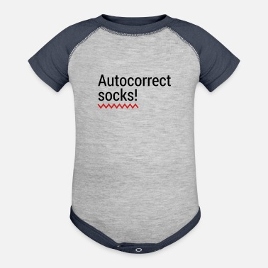 Mobile Phone Autocorrect Socks text message SMS Smartphone - Baseball Baby Bodysuit