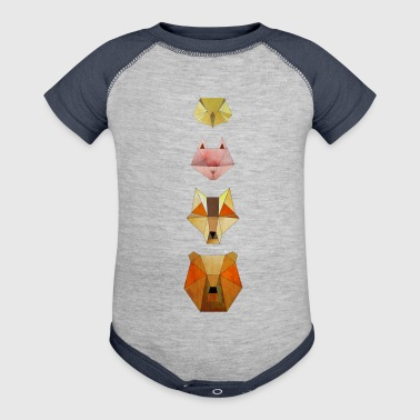 Geometric forest animals - Baby Contrast One Piece