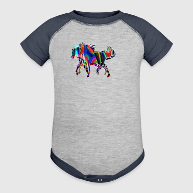 horses race - Baby Contrast One Piece