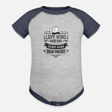 Right Wing Left Wing Right Wing Same Bird - Baseball Baby Bodysuit