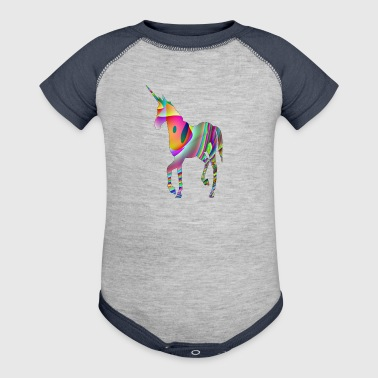 unicorn of the sky - Baby Contrast One Piece