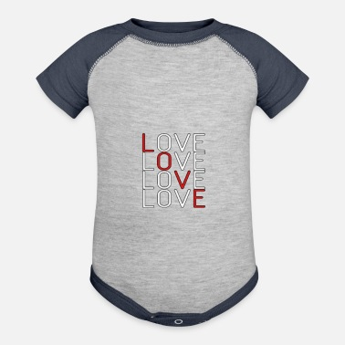 Lovely Love Love Love Love - Baseball Baby Bodysuit