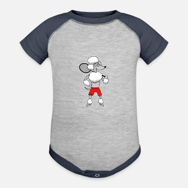 Dog Sports Dog poodle wool Badminton Sports Kids Gift - Baseball Baby Bodysuit