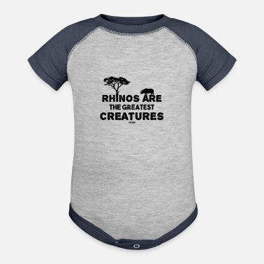 Safari World Rhino Day Rhino Africa Safari - Baseball Baby Bodysuit