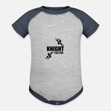 Knight Fight Medieval Knight Fighting - Baseball Baby Bodysuit