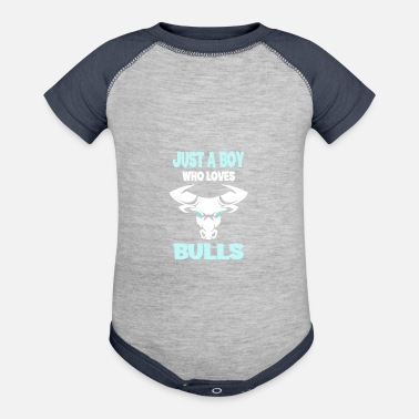 Longhorn Just A Boy Who Loves Bulls I Taurus Gift Outfit - Baseball Baby Bodysuit