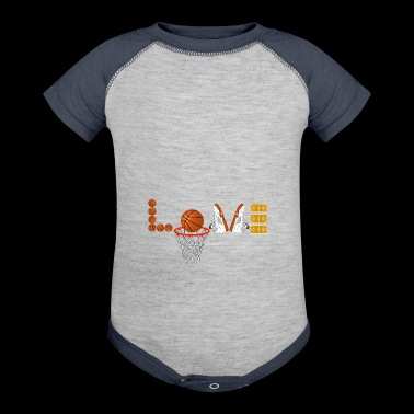 I LOVE Basketball Streetball Slam-dunk Sport - Baby Contrast One Piece