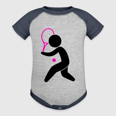 A Tennis Player Plays The Ball - Baby Contrast One Piece