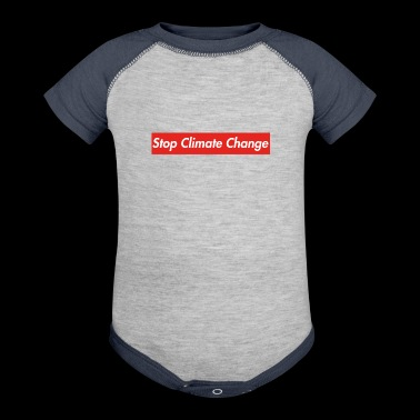 Stop Climate Change - Baby Contrast One Piece
