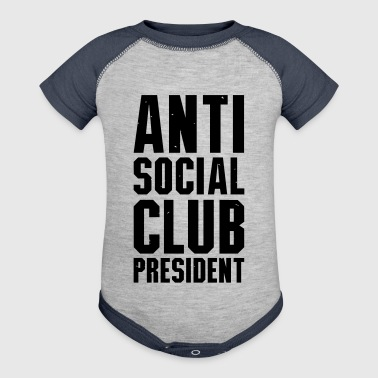 Anti social club president - Baby Contrast One Piece