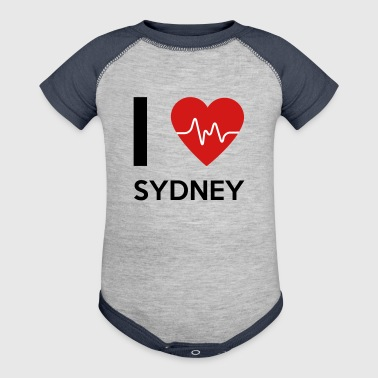 I Love Sydney - Baby Contrast One Piece