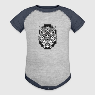 Barbarian Wolf - Baby Contrast One Piece