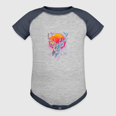 Rad Stag, Neon infused stag - Baby Contrast One Piece