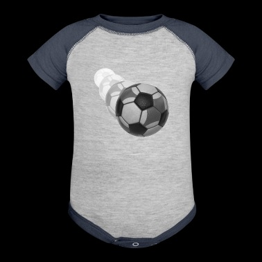 soccer ball (swoosh) - Baby Contrast One Piece