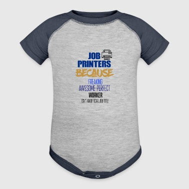 Job Printers - Baby Contrast One Piece