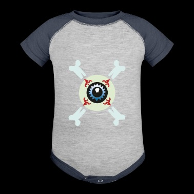Eyeball and crossbone - Baby Contrast One Piece