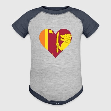 A Heart For Sri Lanka - Baby Contrast One Piece