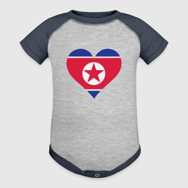 A Heart For North Korea - Baby Contrast One Piece