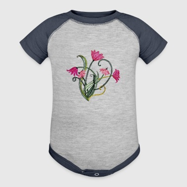 Flowers - Baby Contrast One Piece