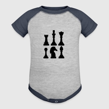 Chess figures - Baby Contrast One Piece