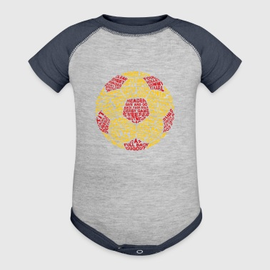 Soccer Ball Typography - Baby Contrast One Piece