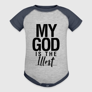 'My God Is The Illest' Design - Baby Contrast One Piece