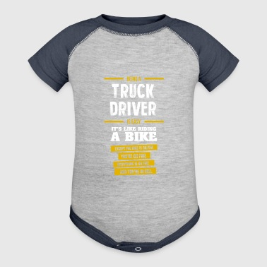 truck driver - Baby Contrast One Piece
