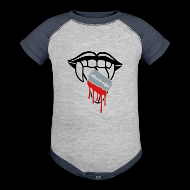 Razor blade bloody tongue - Baby Contrast One Piece