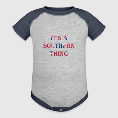 It's A Southern Thing - Baby Contrast One Piece