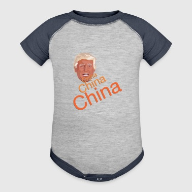 Donald Trump - China, China, China - Baby Contrast One Piece