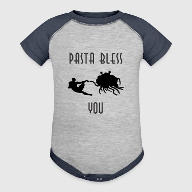 pasta bless you - Baby Contrast One Piece
